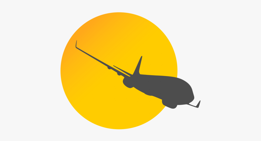 Airplane Logo Yellow - Vector Travel Logo Png, Transparent Clipart