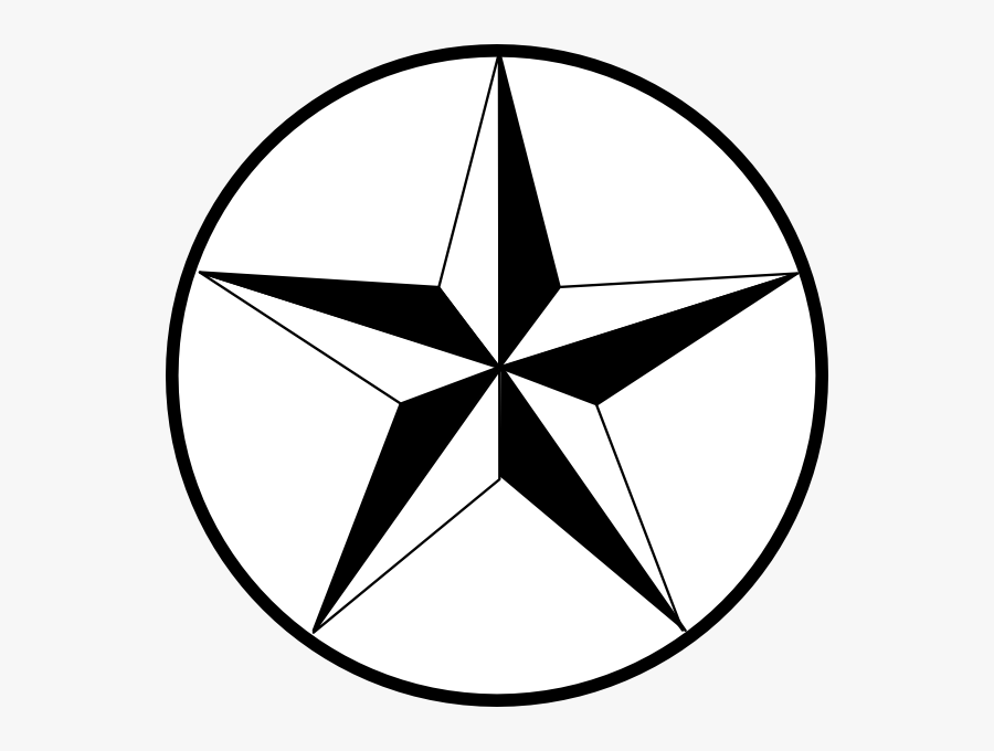 State Of Texas Texas Star Clip Art At Vector Clip Art - Black And White Stars, Transparent Clipart