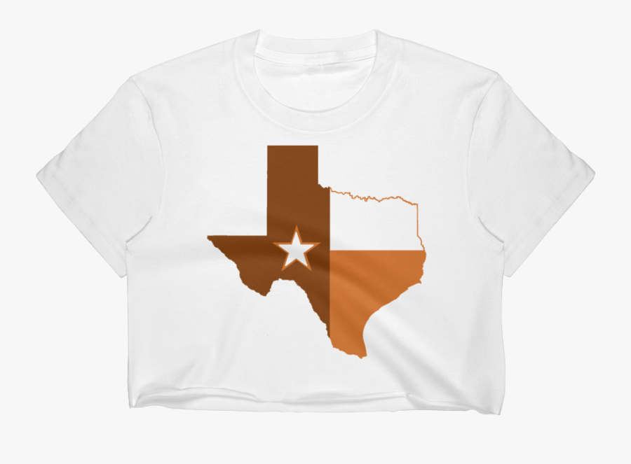 """Austin State Of Texas Flag Women""""s Crop Top - Texas State With Flag Inside, Transparent Clipart"""