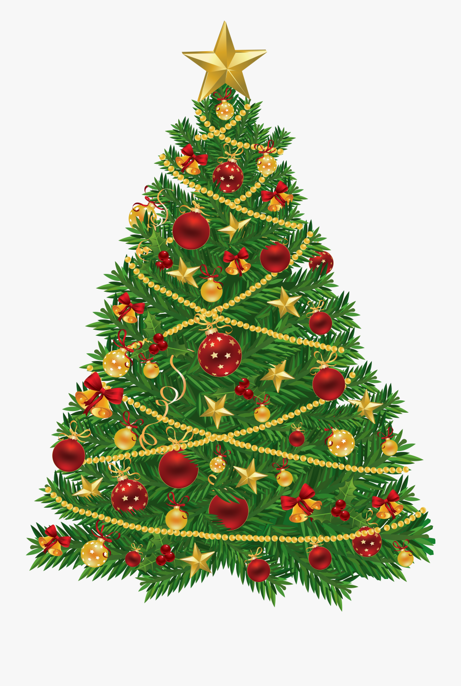 Lights Clipart Red Green - Christmas Tree And Present, Transparent Clipart