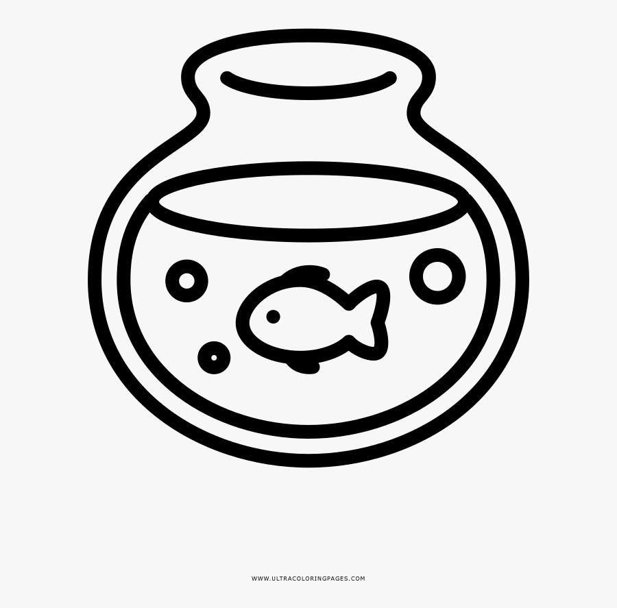 fish bowl coloring page clipart png download line drawing of a fish in a bowl free transparent clipart clipartkey fish bowl coloring page clipart png