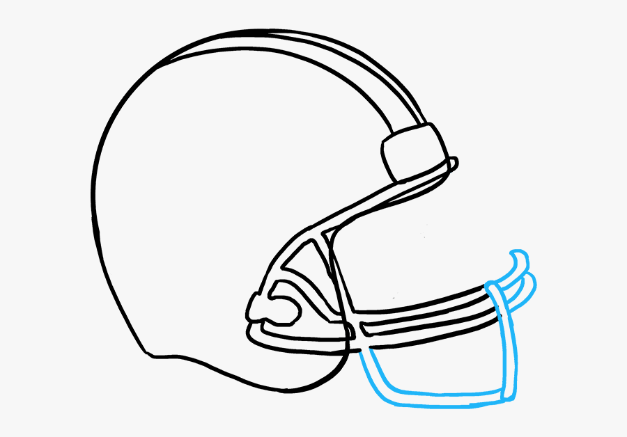 How To Draw Football Helmet Football Helmets Drawings Free