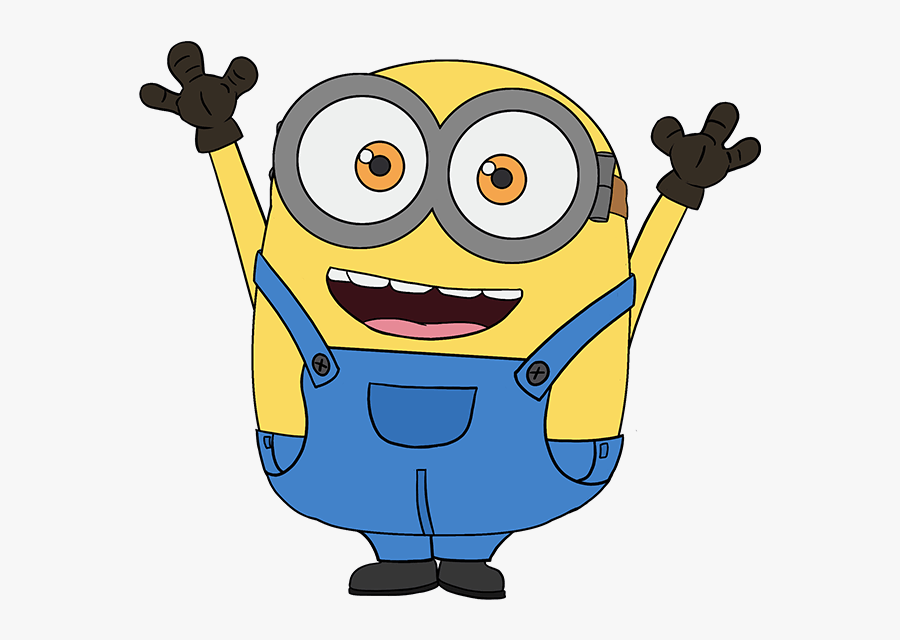 Drawing Clipart Minion - Minion Bob Drawing Step By Step, Transparent Clipart