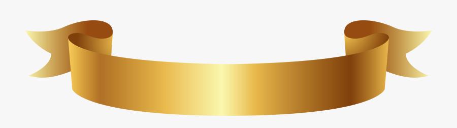 Golden Ribbon Banner Png Clipart - Gold Ribbon Banner Vector, Transparent Clipart