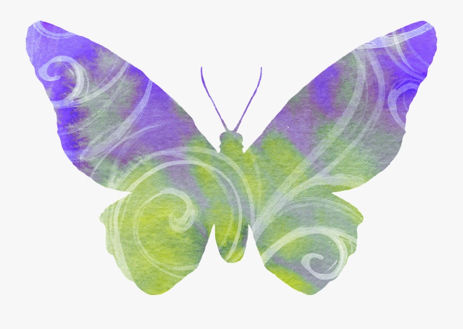 Lavender Clipart Butterfly , Png Download - Green Butterfly Transparent Background Clipart Png, Transparent Clipart
