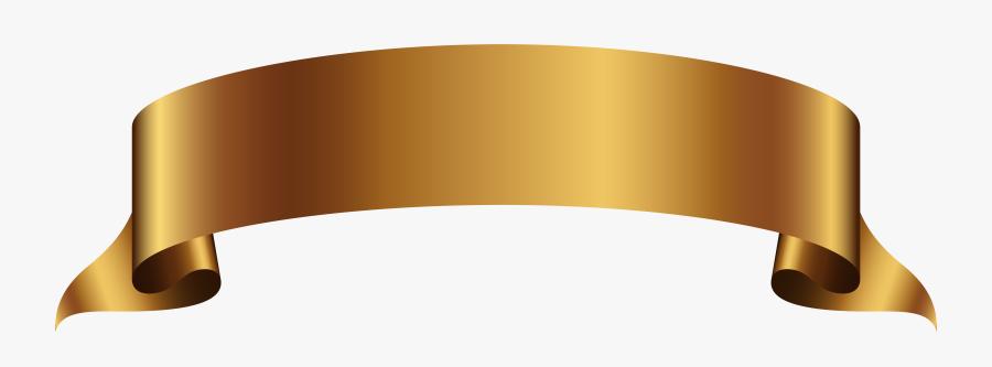 Golden Banner Transparent Png Clip Art Image Gallery - Gold Banner No Background, Transparent Clipart