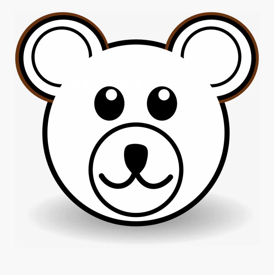 Teddy Bear Face Coloring Page, Transparent Clipart