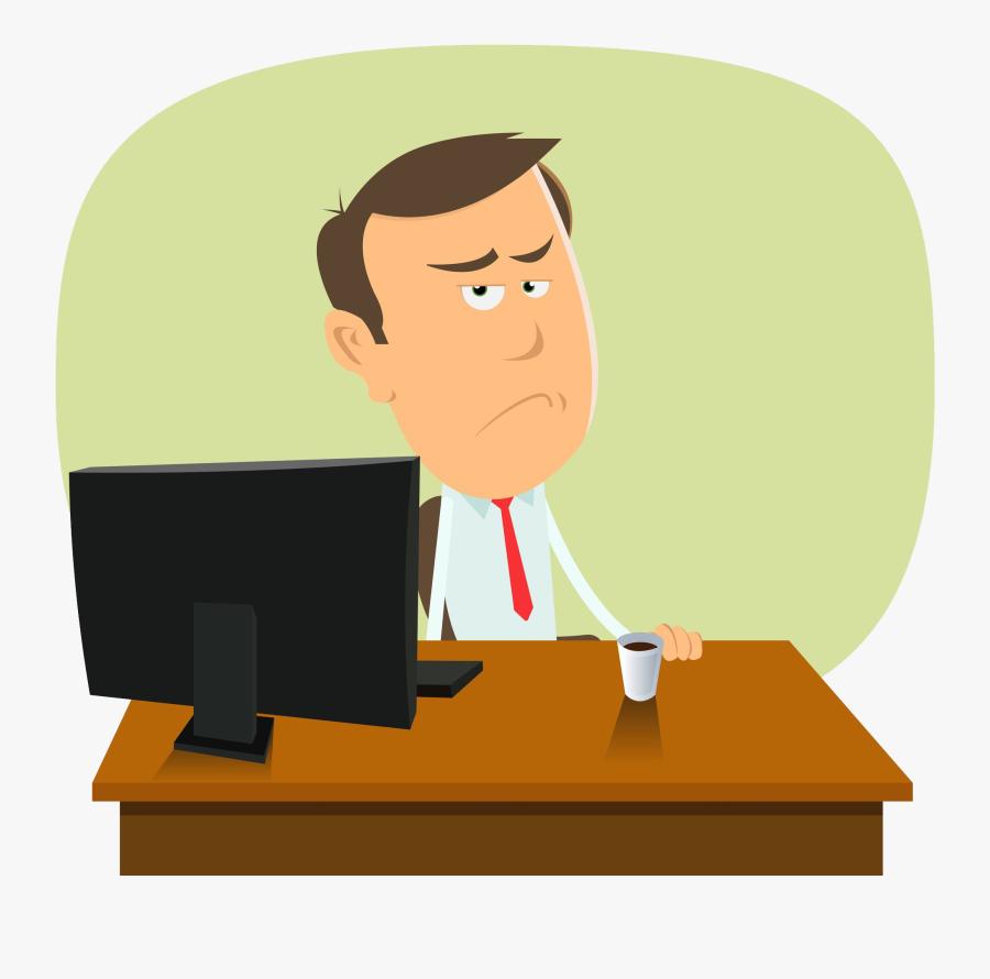 Transparent Cartoon Desk Png - Middle Class Man Clipart, Transparent Clipart