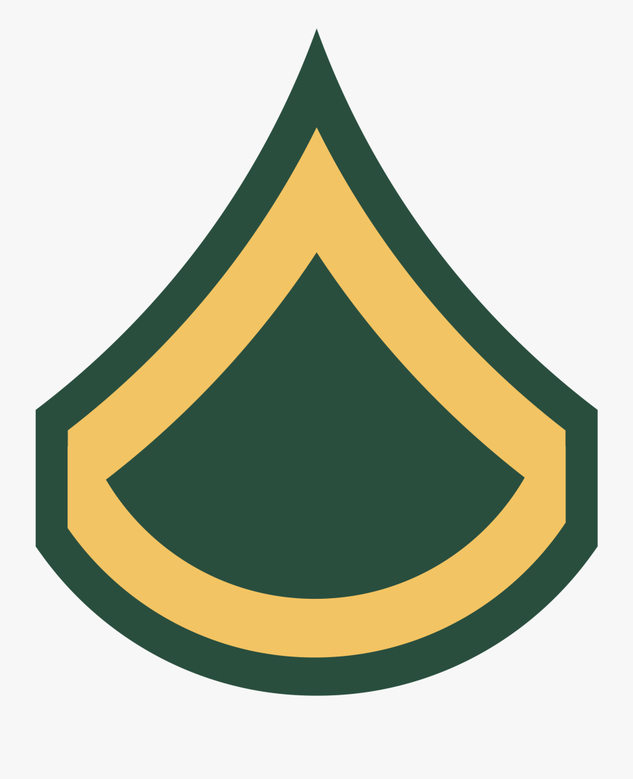Private First Class - Army Rank Insignia Private First Class, Transparent Clipart