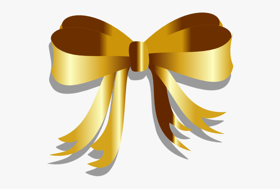 Yellow,clip Accessory,bow Tie - Transparent Background Gold Ribbons Vector, Transparent Clipart