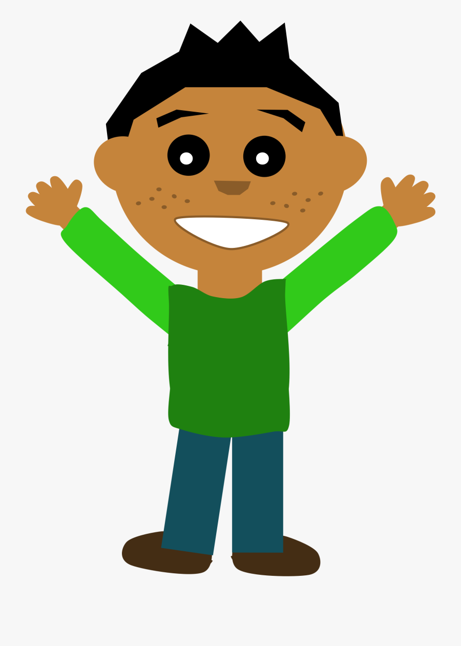 People Clipart Boy - Happy Person Clipart, Transparent Clipart