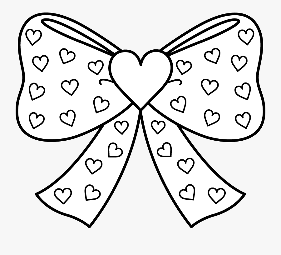 - Bow With Hearts Coloring Page - Printable Jojo Siwa Coloring Page , Free  Transparent Clipart - ClipartKey