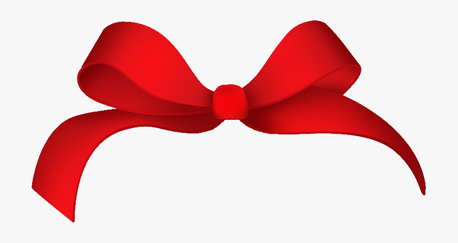 Red Hair Bow Png - Ribbon Gift Box Png, Transparent Clipart