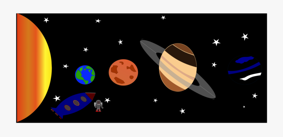 Graphic Design,astronomical Object,space - Planets In Solar System Clipart Png, Transparent Clipart