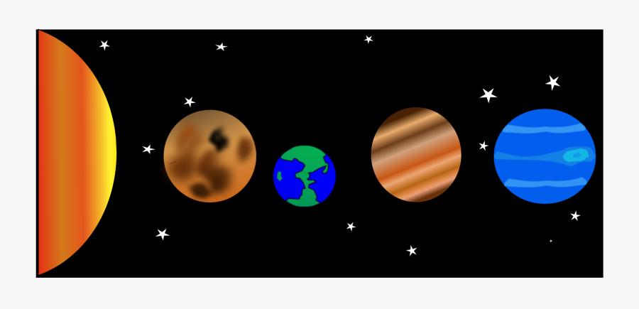 Rectangle,space,nuestro Sistema Solar - Transparent Solar System Clip Art, Transparent Clipart