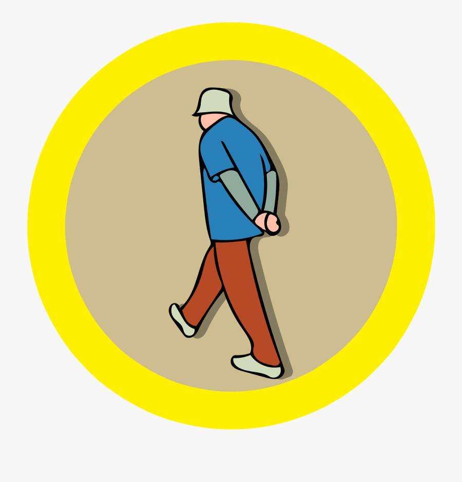 Man Walking Hat Free Picture - Illustration, Transparent Clipart