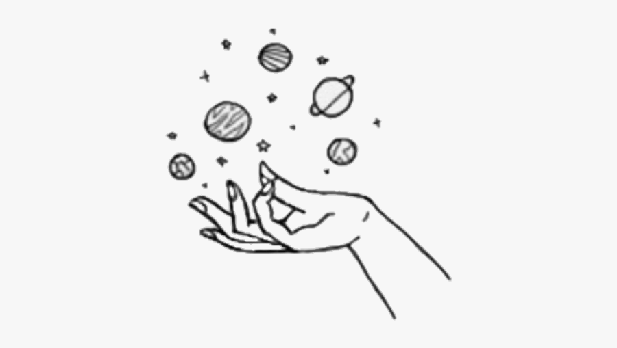 Solar System Drawing Tumblr Hands With Planets Drawing Free Transparent Clipart Clipartkey