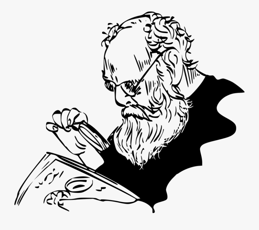 Transparent Person Thinking Clipart - Periyar Drawing, Transparent Clipart