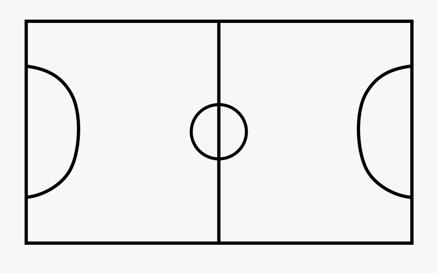 Goal Vector Football Court - Soccer Pitch Black And White, Transparent Clipart