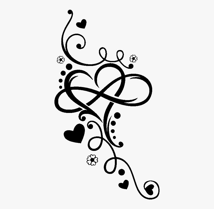 Heart Infinity Tattoo Henna T-shirt Arabesque Motif - Infinity Heart Tattoo, Transparent Clipart