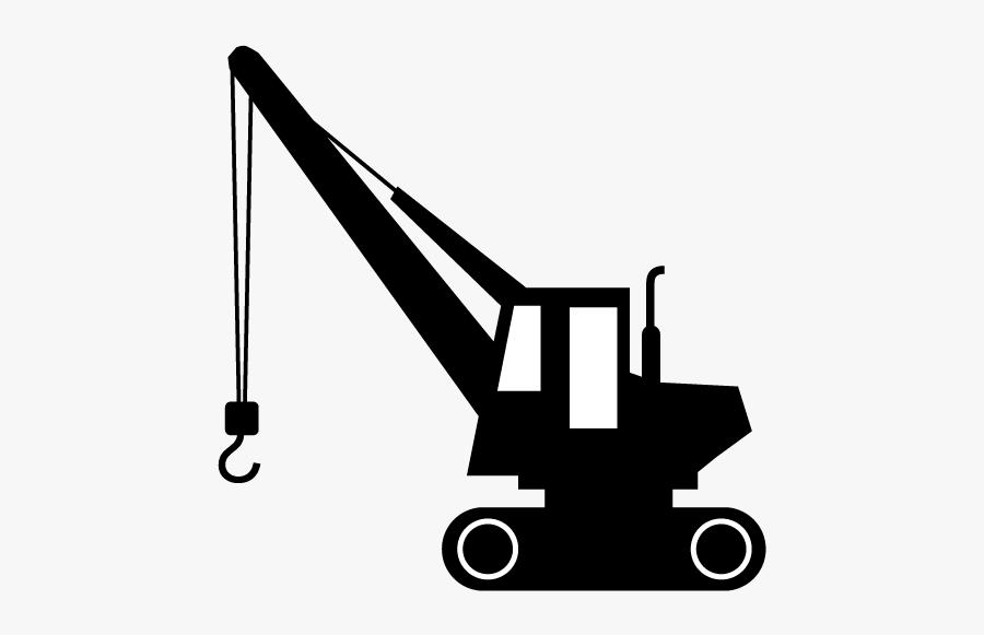 Car Site Illustration Riding - Construction Crane Clipart Black And White, Transparent Clipart