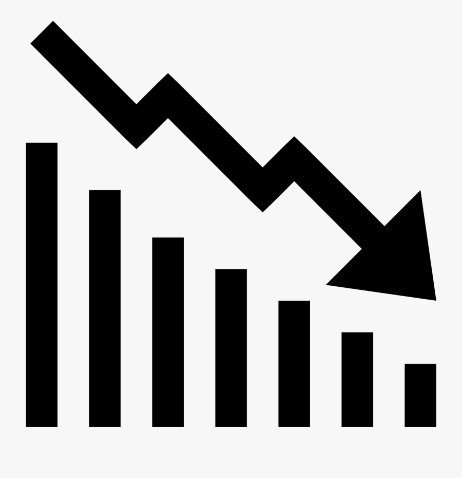 The Image Signifies A Graph - Increase And Decrease Icon, Transparent Clipart