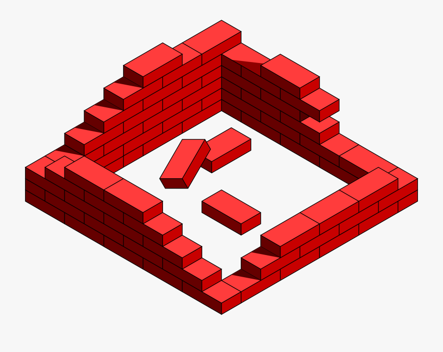 Clipart Brick Frame Destroyed - Brick Wall Clipart, Transparent Clipart