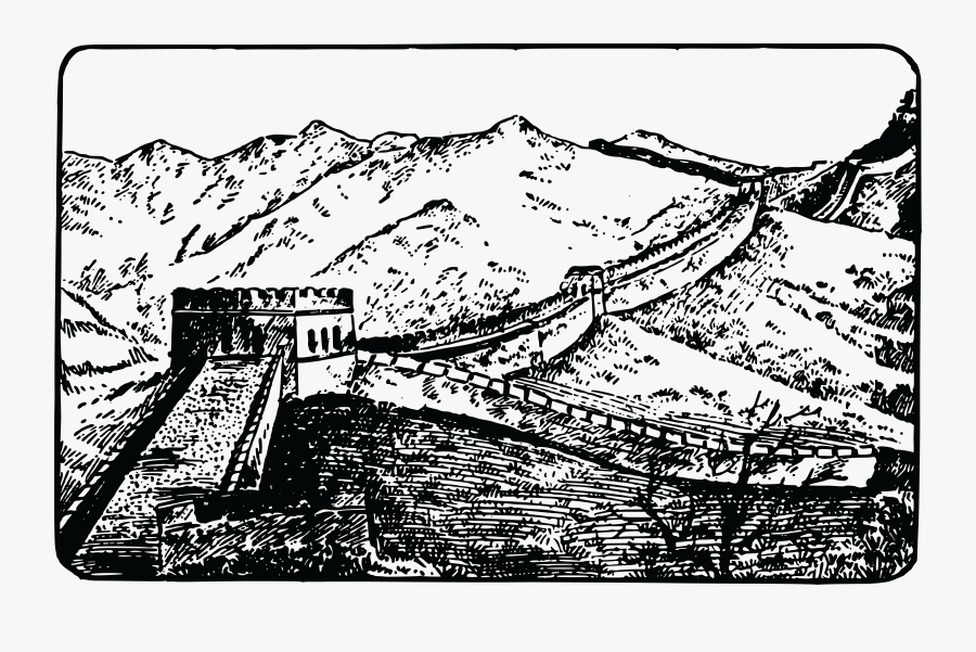 Free Clipart Of The Great Wall Of China - Great Wall Of China Coloring Page, Transparent Clipart