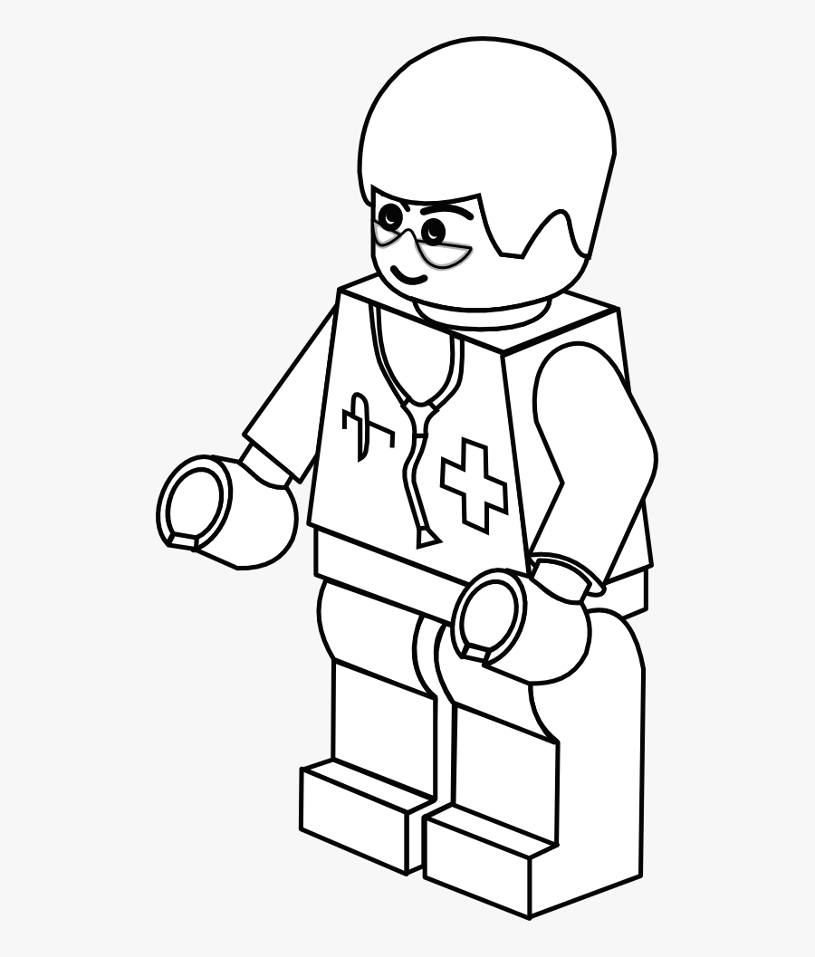 Transparent Doctor Clipart - Lego Doctor Coloring Pages ...