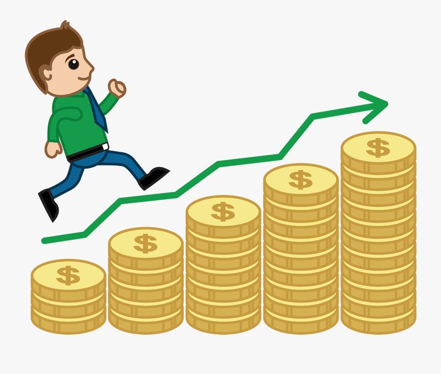 - Graph Money Cartoon Clipart , Png Download - Money Cartoon Increase Graph, Transparent Clipart