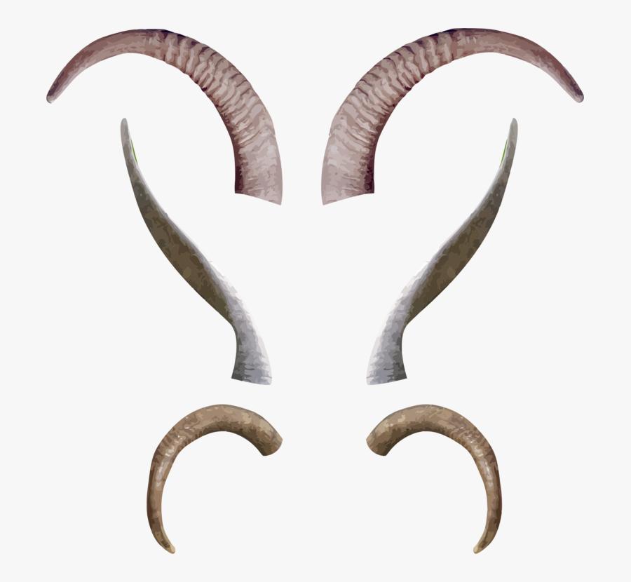 Claw,antelope,goats - Devil Goat Horns Png, Transparent Clipart