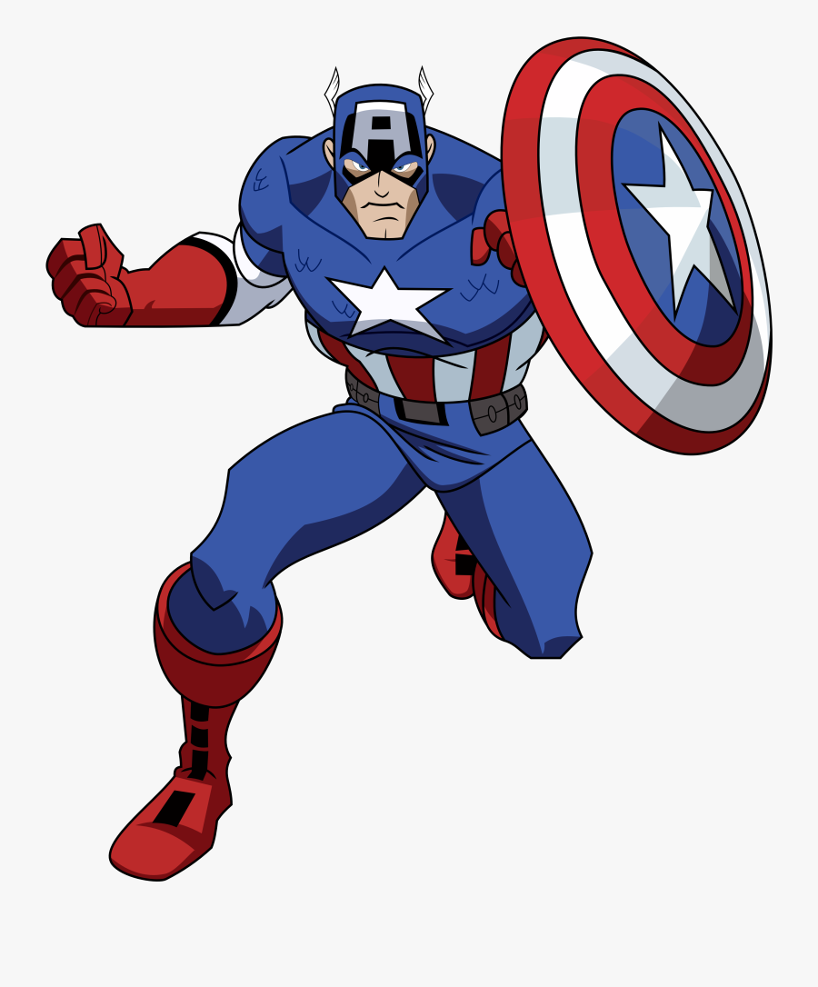 Free Pictures Captain America Clipart - Avengers Earth's Mightiest Heroes Captain, Transparent Clipart