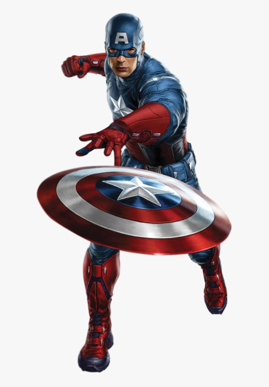 Capitan America Avengers Png, Transparent Clipart