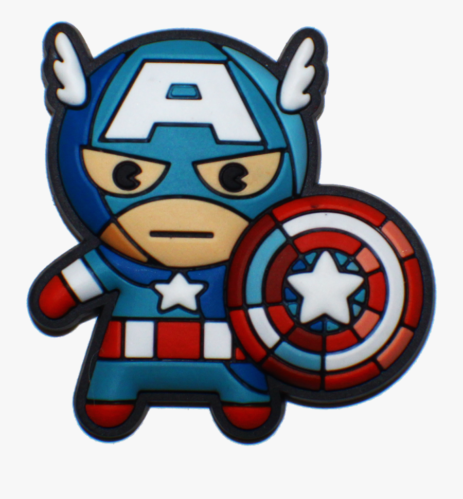 Avengers Clipart Object - Kawaii Marvel Captain America, Transparent Clipart