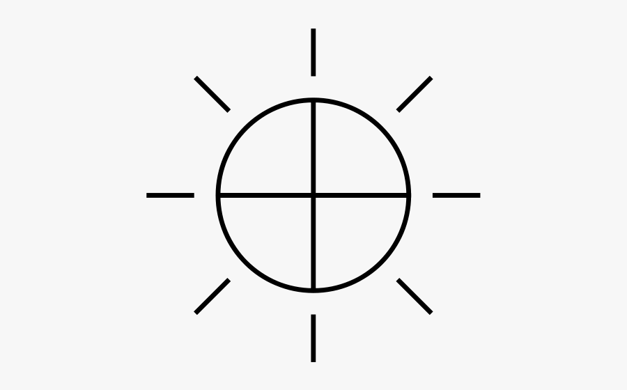 Angle,symmetry,area - Ancient Symbol For Control, Transparent Clipart