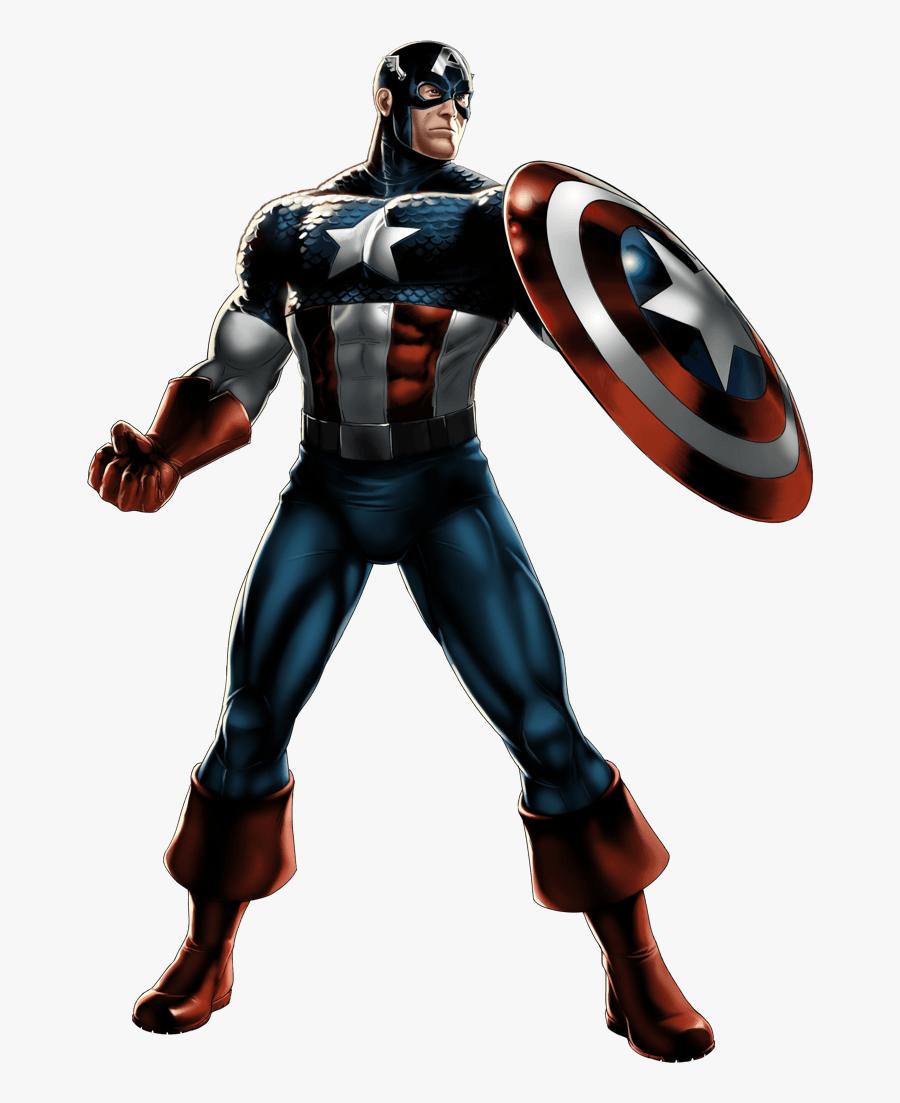 Captain America Clip Art - Marvel Alliance Captain America, Transparent Clipart