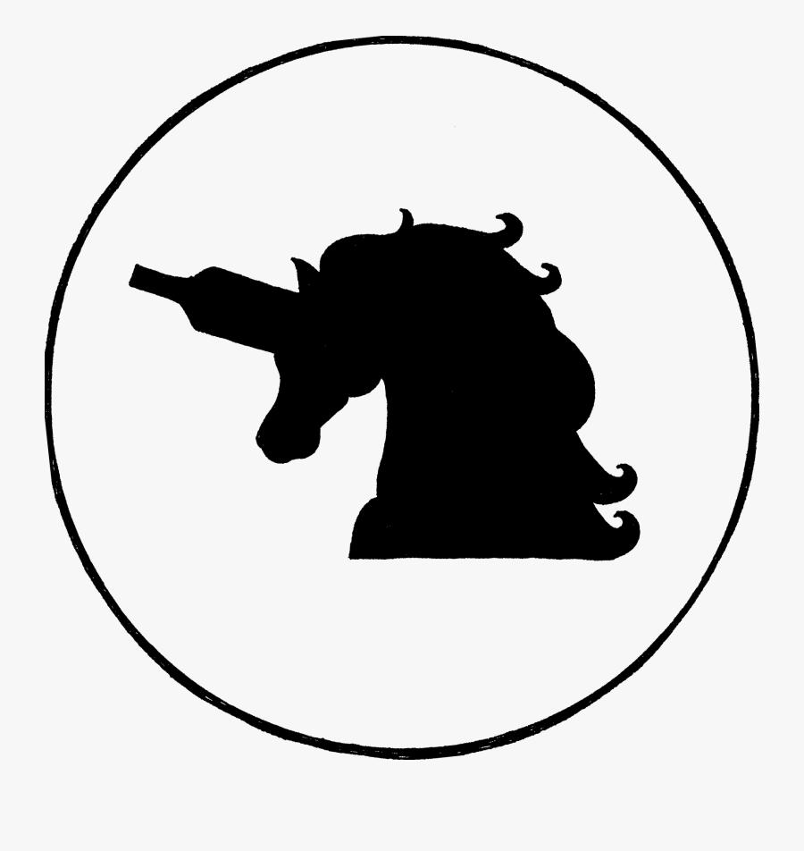"The Site""s Logo - Unicorn Horn As A Wine Bottle, Transparent Clipart"