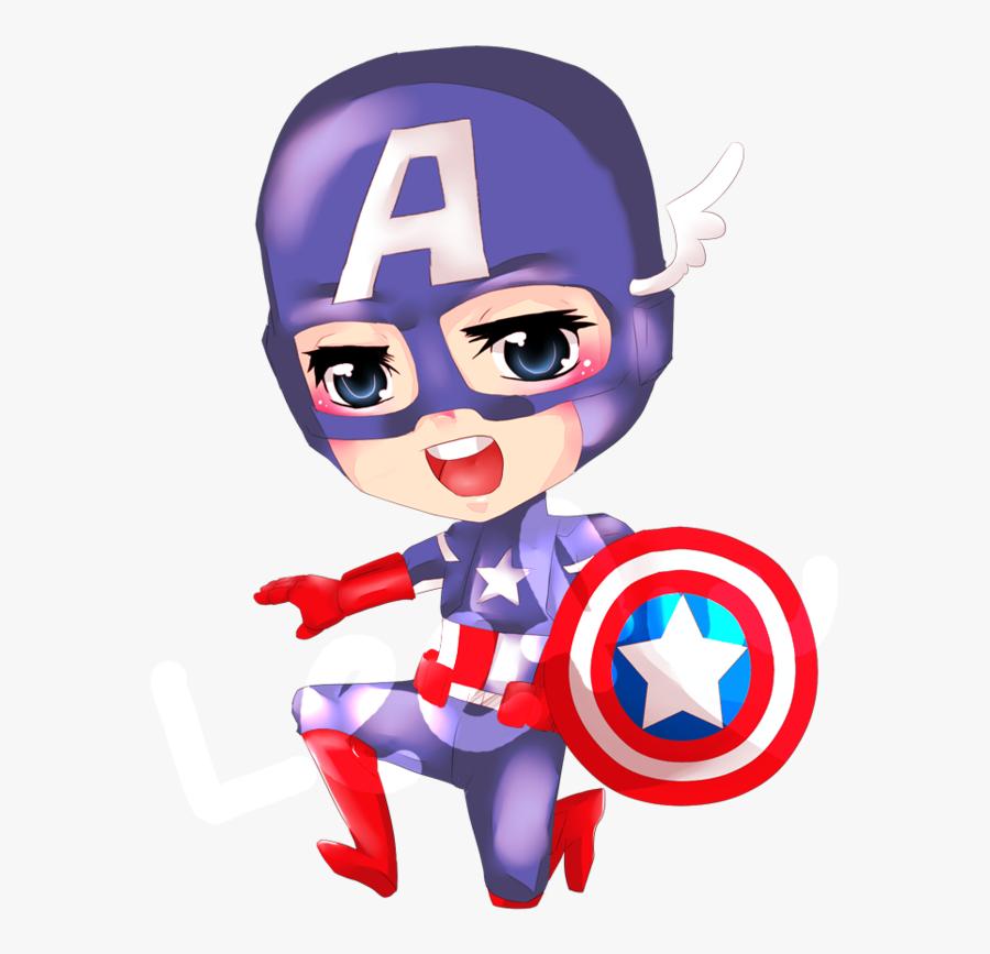 Captain America Clipart Girl - Captain America Anime Marvel, Transparent Clipart