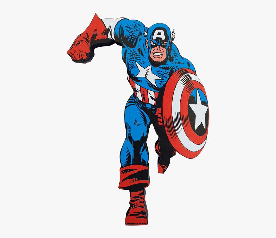 America Figure Comics Character Fictional Iron Action - Captain America Comic 1970, Transparent Clipart