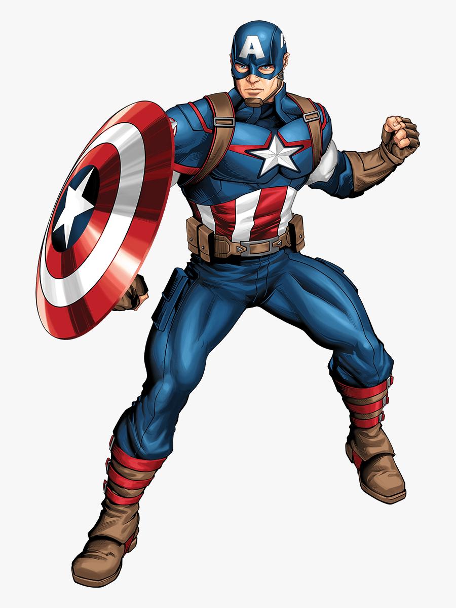 America Superhero Skull Marvel Luke Iron Captain Clipart - Avengers Assemble Captain America Png, Transparent Clipart