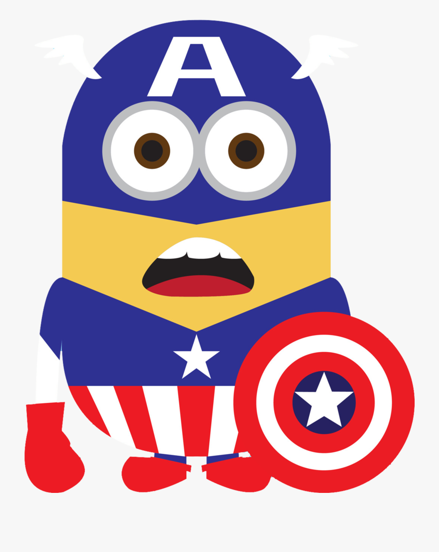 137563044 Added By Learmy At Captain America - Minions Avenger Hd Wallpaper For Iphone, Transparent Clipart