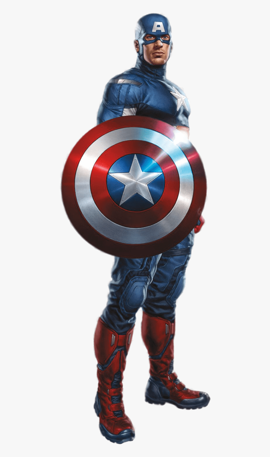 Captain Marvel Clipart Transparent - Iron Man Captain America Avengers, Transparent Clipart