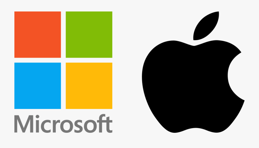Path Clipart Diverging Road - Microsoft And Apple Logos, Transparent Clipart
