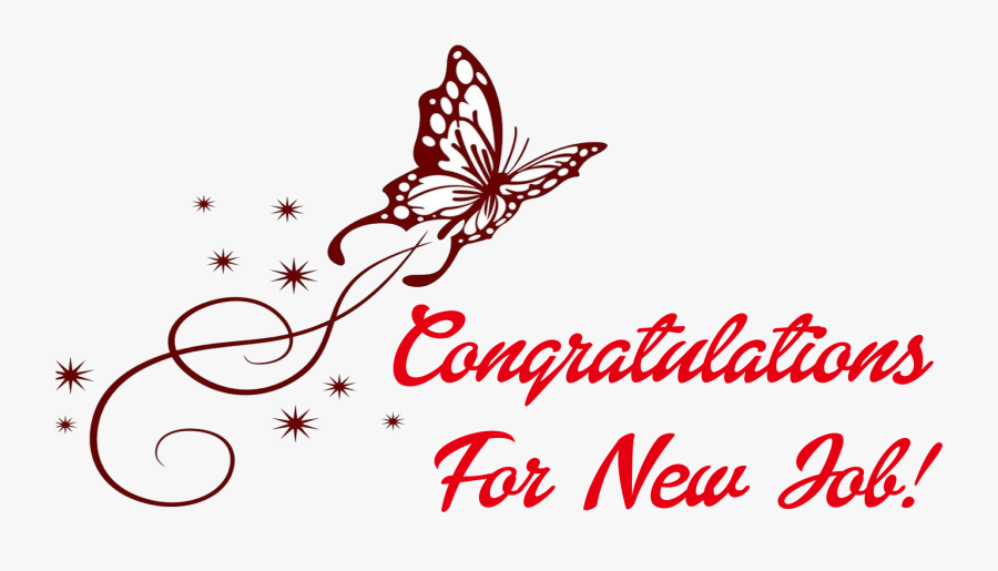 Congratulations For New Job Png Clipart - Brush-footed Butterfly, Transparent Clipart