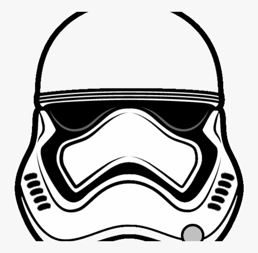 Stormtrooper Coloring Page Clipart First Order Pesquisa - Stormtrooper Star Wars Mask Printable, Transparent Clipart