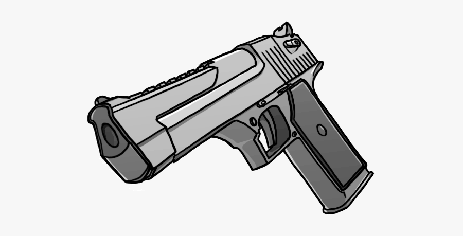 How To Draw Real Looking Gun - Drawing Gun Png, Transparent Clipart