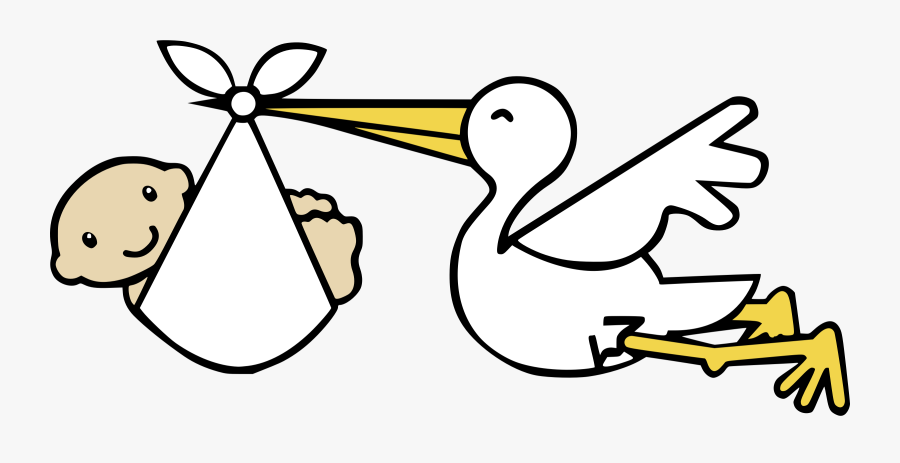Congratulations You Re Expecting - Stork With Baby Drawing, Transparent Clipart
