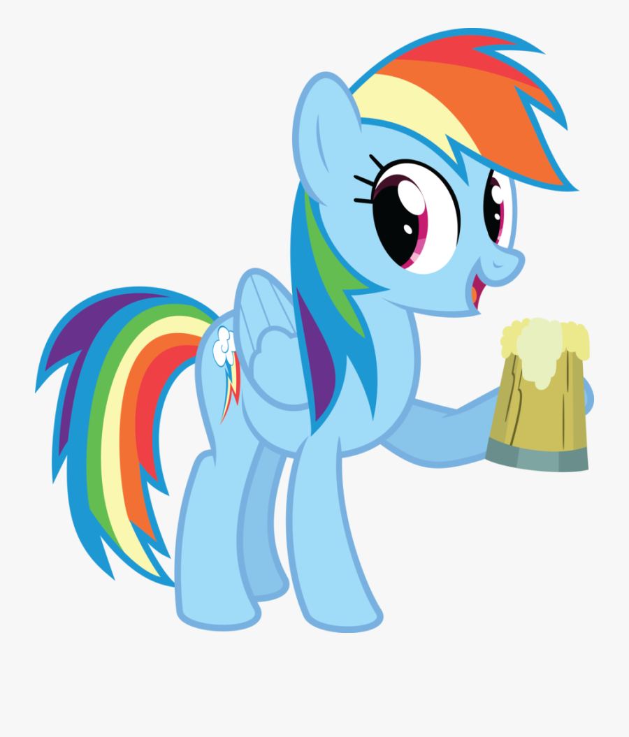 Now, Before You Make These Drinks, Buy A Canvas And - Rainbow Dash And Cider, Transparent Clipart