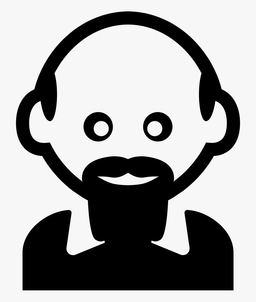 Man With Bald Head And Hairy Bard - Portable Network Graphics, Transparent Clipart