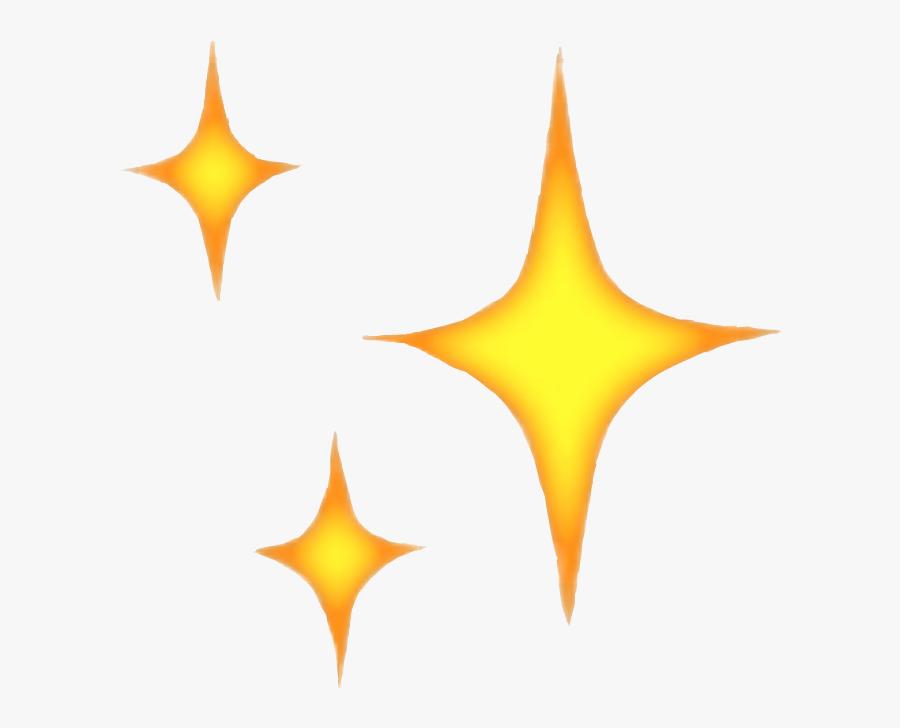 Transparent Star Shine Png - Iphone Sparkle Emoji Png, Transparent Clipart